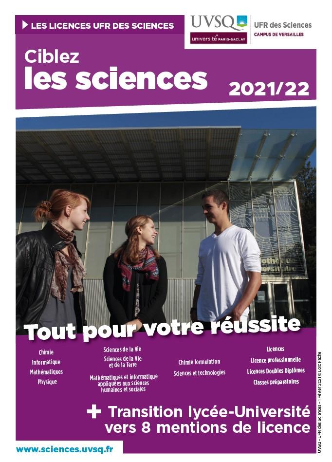 Couverture ciblez les sciences 2021_22